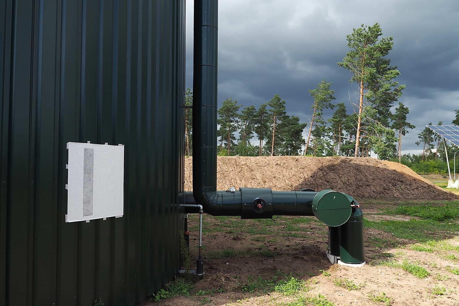 EnergieCultuur-EnergieKultur; biogas Saerbeck; foto van frottage op terrein Bio-energiepark Saerbeck